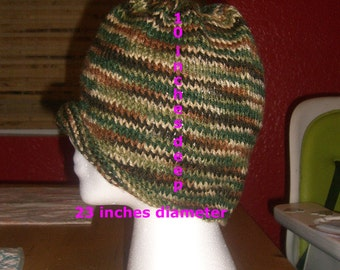 Knitted Camouflage Beanie Hat