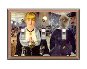 1466X - Manet Bar Maid Switchplates - Mrs Butler  (Choose size/price from dropdown)light switchplates, switch plate covers