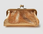 Gold Faux Leather Mini Clutch, Phone Case, Gift under 25, Tampon Holder, Makeup Cosmetic Pouch, Jewelry Bag, Wallet
