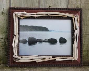 Lake Erie Fine Art Photograph in Driftwood Frame - Framed Print Lake House Decor
