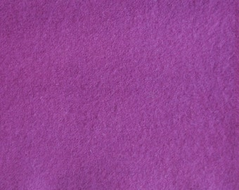 Red Violet Hand Dyed Felted Wool Fabric - Hand Dyed - - 100% Wool