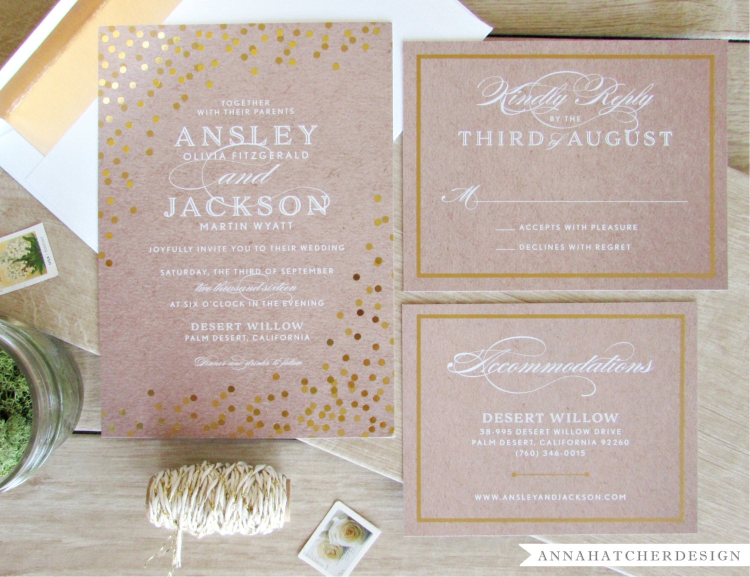 how to add gold foil to invitations