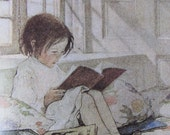 1905 Childrens Illustration done by Jessie Willcox Smith/Picture Books in Winter/Nursery Print/Vintage Book Print for Framing