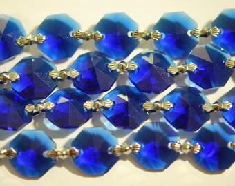 1 Yard (3 ft.) Chandelier Crystals Bead Garland Chain -Cobalt Blue -  Crystal - (S-19)