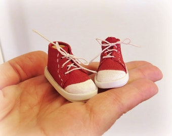 Canvas High Top Sneakers No Sew Doll Shoes Pattern PDF Pictorial Tutorial