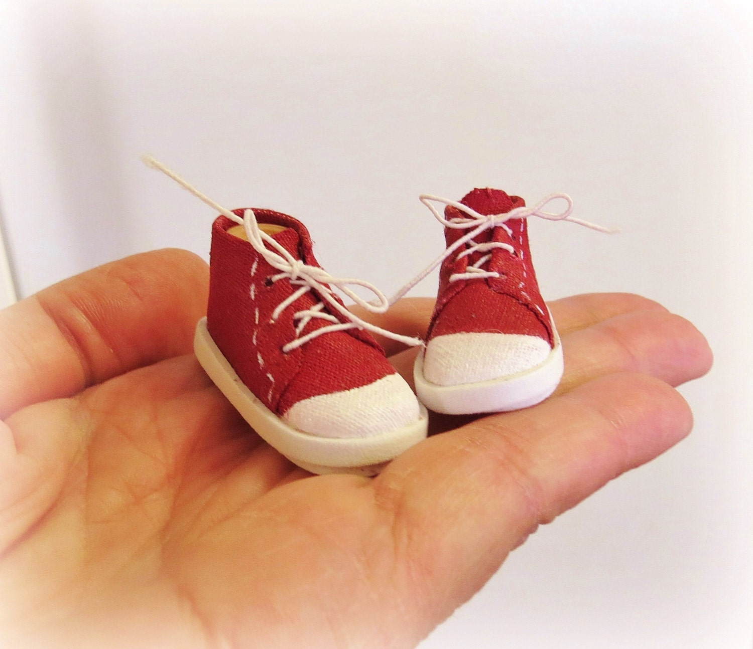 Canvas High Top Sneakers No Sew Doll Shoes Pattern Pdf