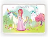 TRAY - Personalized Princess & Unicorn melamine tray for kids