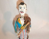 Toy : Violin Player Toy 1950's Linemar Toys ~Japan~  Lithographed Tin toy~  Vintage /Antique  Wind Up  Toy