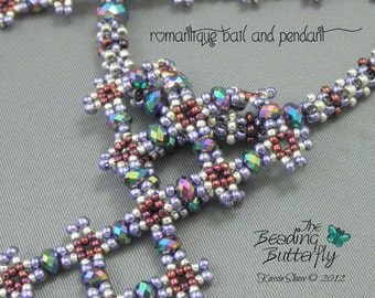 Romantique Diamond Necklace Beading Tutorial - Digital Download