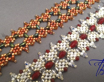 Twin Tiles Bracelet Tutorial - Beadweaving Pattern for Duo or Twin Beads - Digital Download