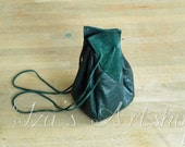 Dark Green Medieval Leather Pouch