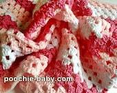 Crochet Baby Blanket - Bubblegum Dreams Receiving Size Handmade Blanket