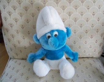 Vintage Toy Stuffed Smurf 1979 Wallace Berry