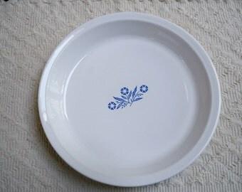 Vintage Kitchen Bakeware Corning Ware Pie Plate 9 IN. Blue Cornflower