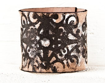 GYPSY JEWELRY - Leather Cuff 2016 Bracelets for Bohemian Women - Tattoo Covers - Leathercraft Gifts - Valentine's Day