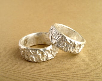 Engagement Ring Melon Rings Sterling Silver Wedding Bands Cast From Natural Melon Peel Made To Order Wedding Ring