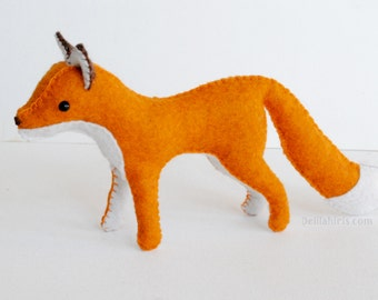 Woodland Felt Fox Pattern * Make A Stuffed Fox Toy * Waldorf Style Felt Animal Pattern * Printable PDF Stuffed Animal Sewing Pattern