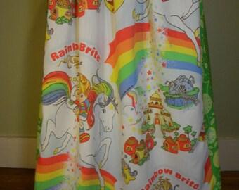 Vintage Rainbow Brite Long Hippie Skirt