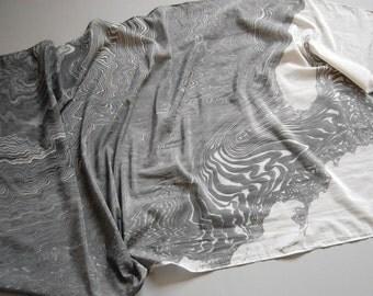Marbled Scarf: Suminagashi Print xxi