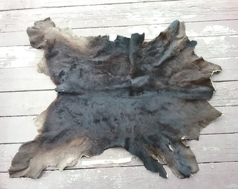 Black Calf Hide- Rug Quality  Lot No. 52548HO