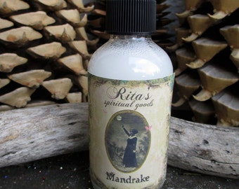 Rita's Mandrake Spiritual Mist - UNISEX - Manifest Your Deepest Dreams, Draw in Spirits - Pagan, Magic, Hoodoo, Witchcraft