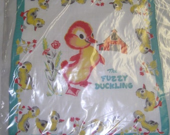 VINTAGE HANKIE - CHILDS -Golden Book – Fuzzy Duckling