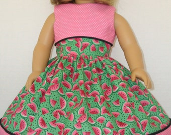 "American Girl doll clothes/Summer Melon/Dress/READYTOSHIP/Made to fit 18"" American Girl Doll"
