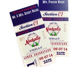 Grandslam Baseball theme escort cards for weddings - Ticket Place Card