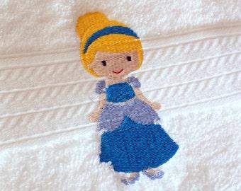 Cinderella Inspired Princess Bath Towel