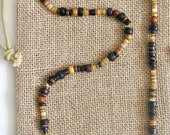 Men's Brown Beaded Necklace