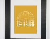 Let It Shine Typography Word Art