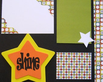 Scrapbooking 2 Page Layout Scrapbook Kit School Birthday Kid Award 12x12 Premade Pages