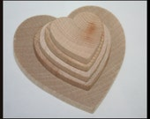 Various Sizes Unfinished DIY Wooden Hearts- You Choose Your Size, Wedding Hearts, Wedding Guest Book