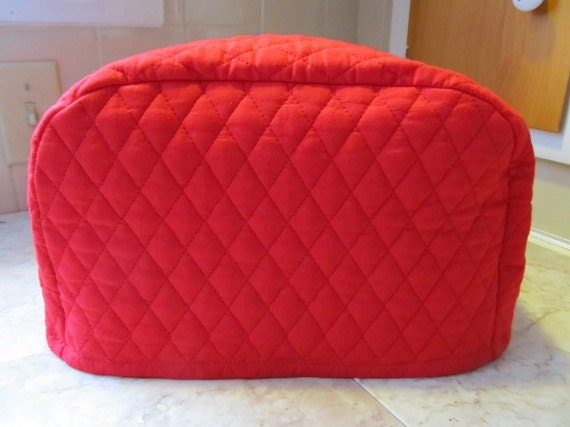 red 7 inch tall 2 slice toaster cover by cozykitchencovers on etsy. Black Bedroom Furniture Sets. Home Design Ideas