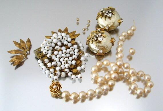 Vintage Perle Ohrringe durchbohrt