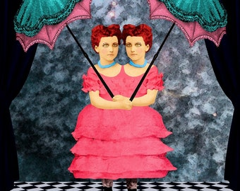 INSEPARABLE Siamese Twin Girls at the Side Show Freak Show