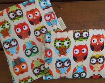 Reusable sandwich and/or snack bag - Owls