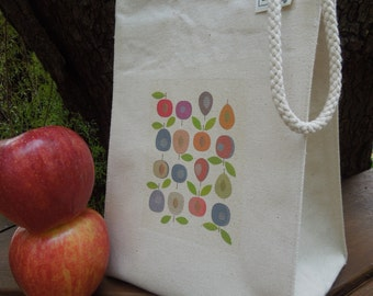 Recycled cotton lunch bag - Canvas lunch bag - Plumbs