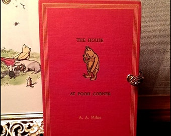 Petite Book Clutch The House at Pooh Corner by A.A. Milne Vintage Book Purse Made to Order