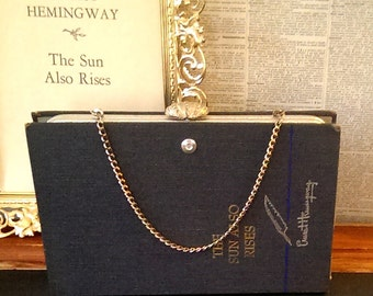 Custom Book Clutch The Sun Also Rises by Ernest Hemingway Literary Book Clutch Made to Order