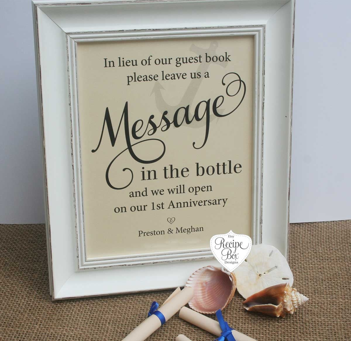 Wedding Message Book Ideas: Message In The Bottle Wedding Guest Book Beach Wedding Signs