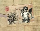 Tags, Cherub, Vintage Style, Cherub Tags, Romantic Chic