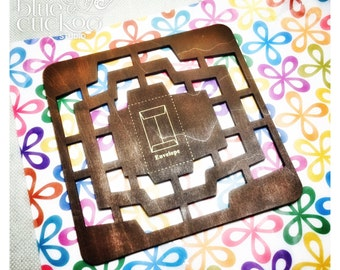 Wooden stencil for DIY envelopes - manual template