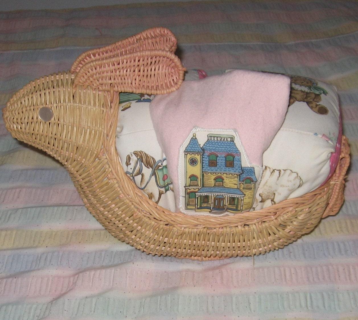 Baby Gift Basket Etsy : Bunny rabbit baby gift basket soft blocks and burp cloth etsy