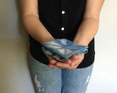 indigo dyed pocket square handkerchief
