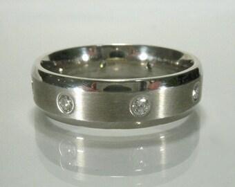 Mens Wedding Ring - Estate Benchmark 0.32 Carat Mens Diamond Wedding Band