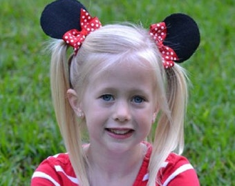 MINNIE EAR Hair Clips/Party Favors/Vacation/Hair Accessory/Child Hair Clips/Photo Props/Birthday Party Favors