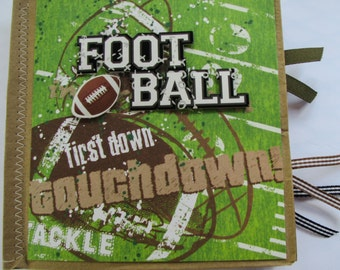 Football Paperbag Scrapbook