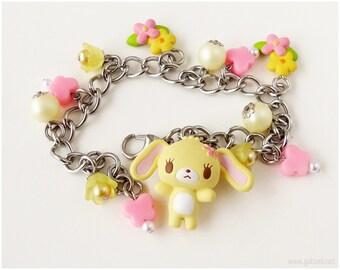 Sugarbunnies Hanausa Charm Bracelet, Pink, Yellow, Sweet Lolita, Spring, Gifts for Girls