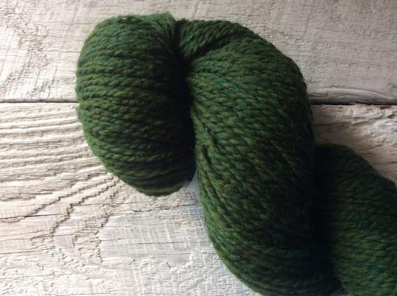 Peace Fleece, wool yarn, worsted, for crocheting, Hemlock Poashja, dark green knitting yarn